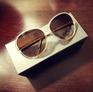 Oliver Peoples Silver Oversized Donyale Sunglasses